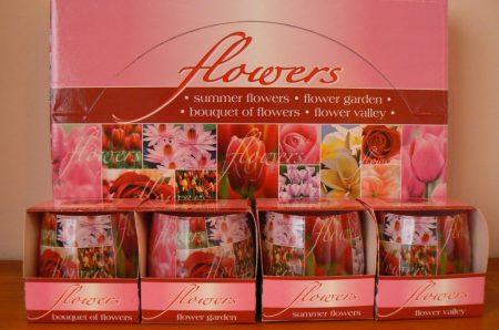 Különleges illatmlécses virág illattal díszdobozban
