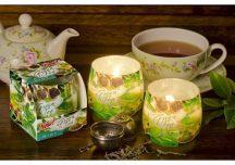 Különleges illatgyertya a zöld tea aromáival