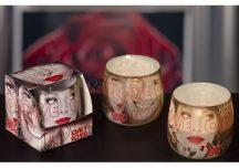 Különleges illatgyertya üvegpohárban valentin napra ajándék