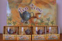 Különleges illatgyertya tea aromával díszes ajándék dobozban