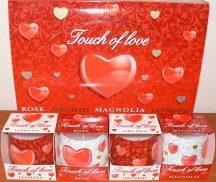Valentin napi illatgyertya érzéki illattal ajándék díszdobozban