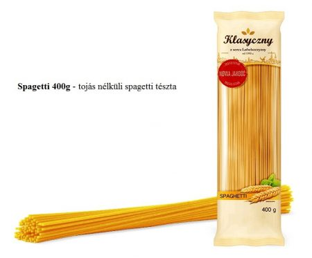 Spagetti 400g - tojás nélküli spagetti tészta 50% durum