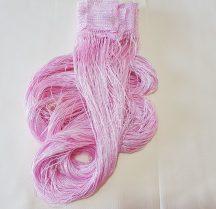 zsinór függönyök világos rózsaszín színben