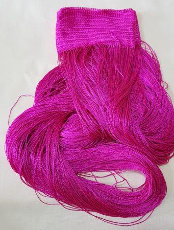 spagetti zsinór függöny pink színben