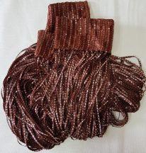 zsinórfüggönyök szalagfüggöny barna színben