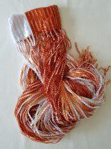 szalag függöny spagettifüggöny narancssárga színben