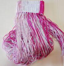 zsinórfüggönyök szalagfüggöny pink fehér színben