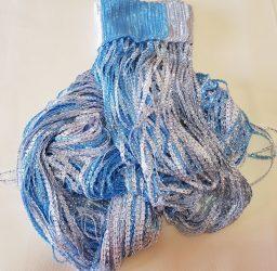 zsinórfüggönyök szalagfüggöny kék fehér színben