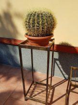 antikolt kovácsolt vas kültéri virágtartó