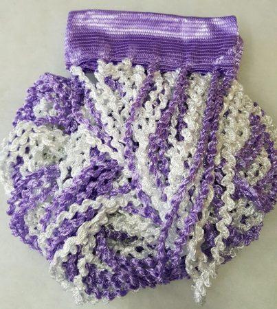 zsenília függönyök lila fehér színben
